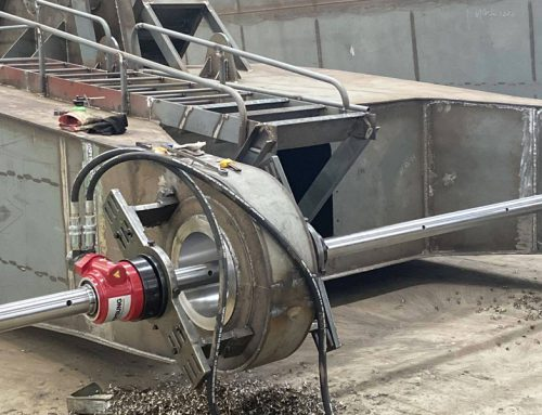 How to set up a line boring machine on site?